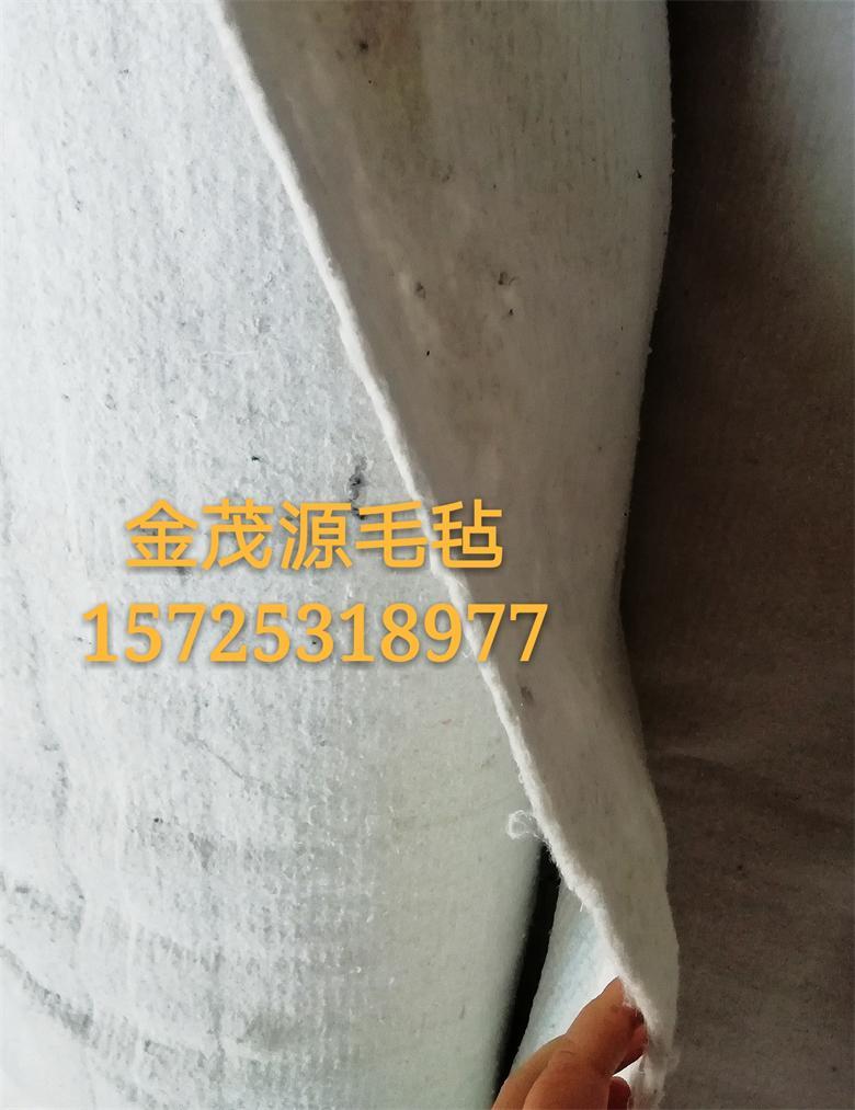 濟南章丘廠家供應白色加厚高速公路養護保濕毛氈可定做尺寸