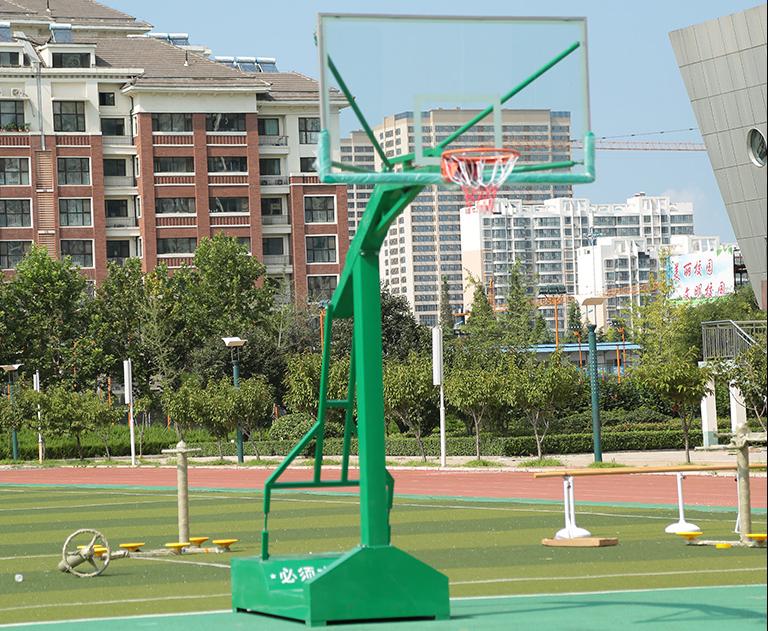 广西户外专用标准仿液压式篮球架框价格