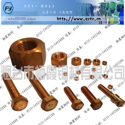 供應C63000鋁青銅螺母 QAl10-4-4鋁青螺帽