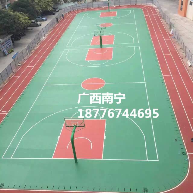 广西硬地丙烯酸篮球场地板翻新铺设专用