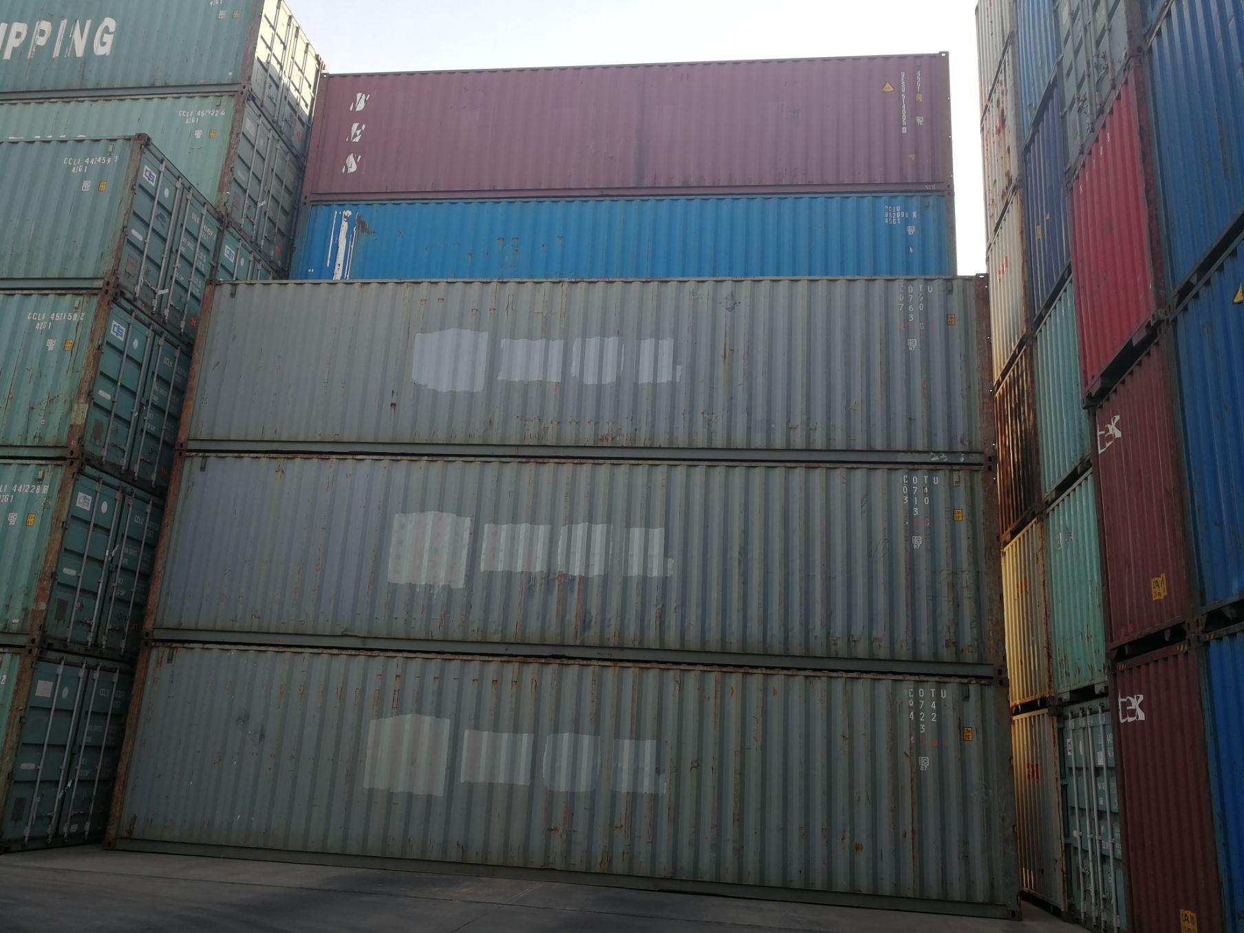 天津港销售20英尺40英尺集装箱标准海运箱集装箱改造房