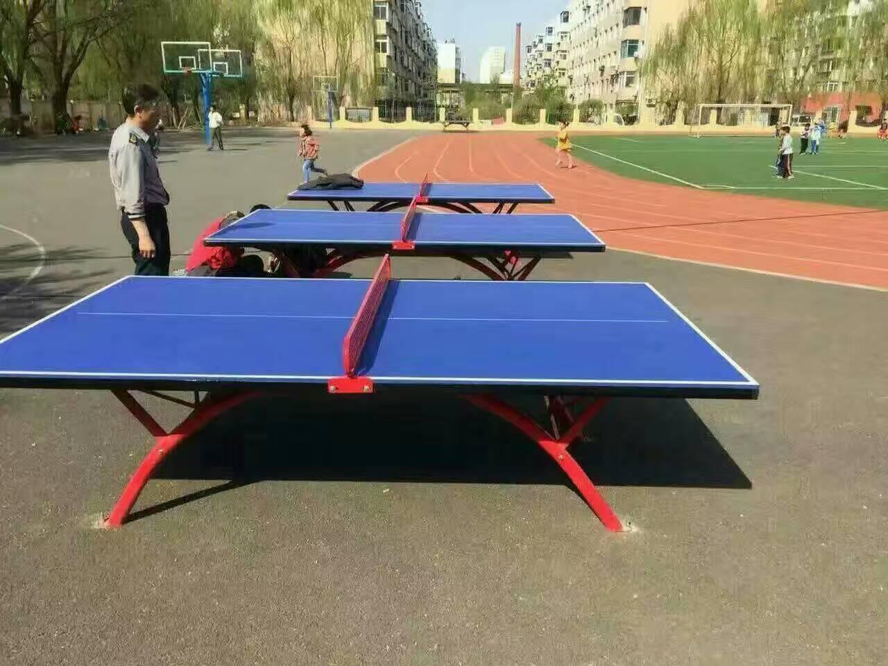 南寧室外防水防曬乒乓球桌 新款乒乓球桌定制安裝方法