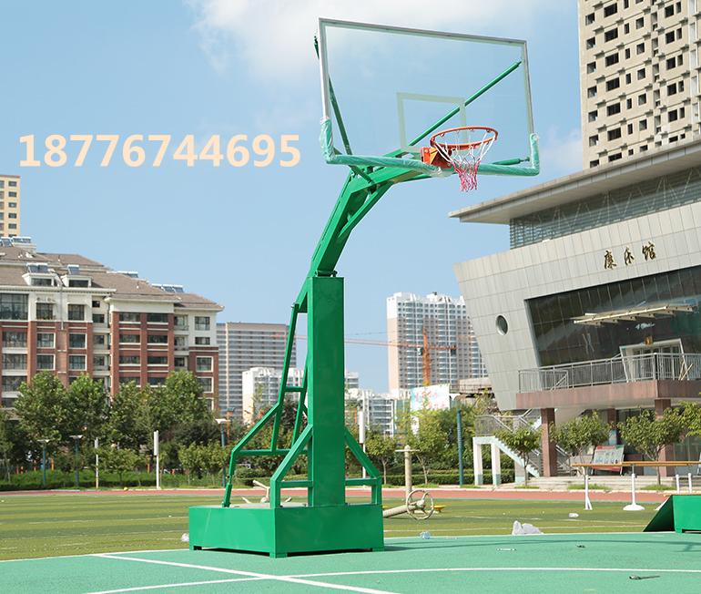 南宁市户外仿液压移动式篮球架高度