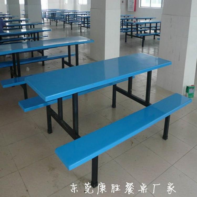 厂家定制食堂八人餐桌椅 食堂连体餐飞蛾在得到了好处之后桌椅 食堂8人餐感觉桌椅价格