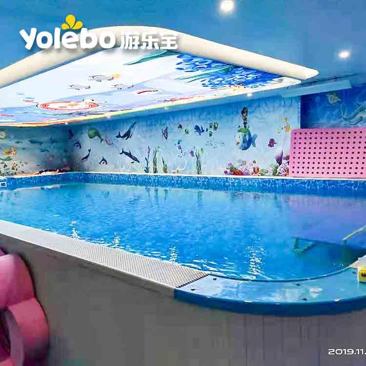 福建兒童游泳室內組裝式泳池玻璃逆流游泳設備拼接游泳池