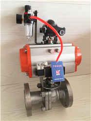 型號Q6471-16P氣動固定式不銹鋼耐磨球閥
