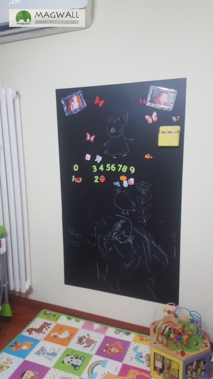 厂家直销磁善家贴墙式可擦写双层磁性黑板贴