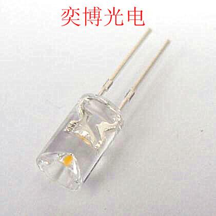 5mm內凹無邊暖白光透明直插LED燈珠 醫療美容LED燈珠