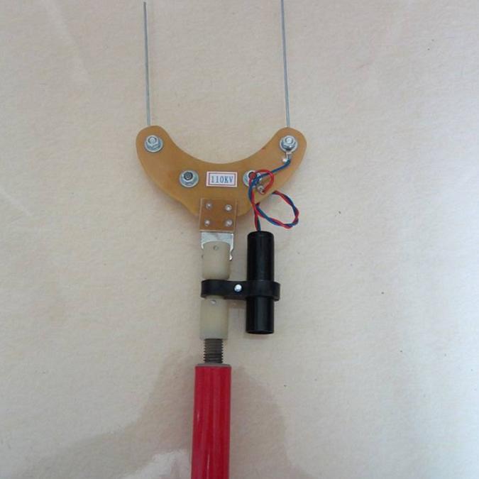 伸缩式绝缘子零值测定仪电力线路测零杆伸缩杆零值检测杆10-110kv
