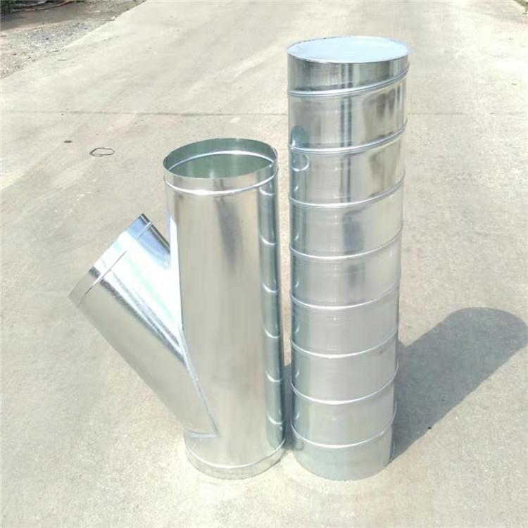 承接肇慶地區鍍鋅螺旋風管 通風除塵風管規格齊全