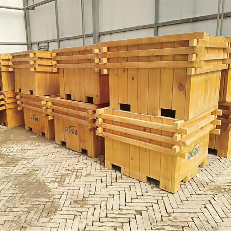 河北献县木质花盆—户外种植花箱—绿化户外花箱