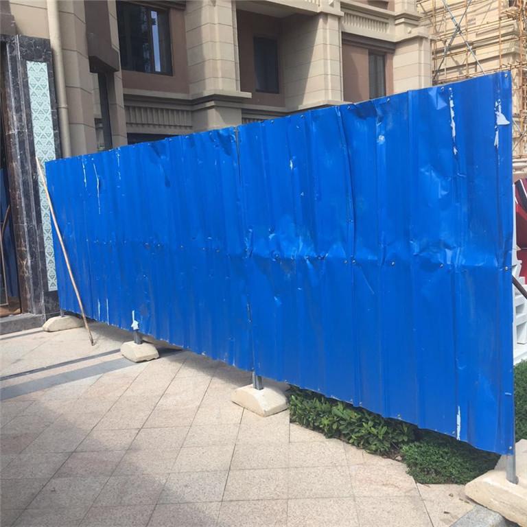 地铁施工彩钢围挡,蓝色工程防护栏,市政施工围挡厂家
