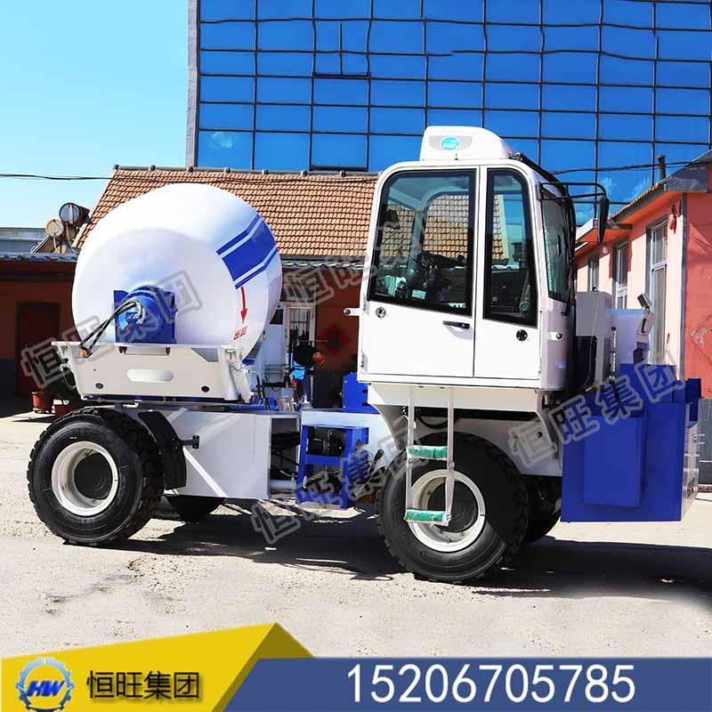 混凝土自动上料搅拌车厂家直销1.2方-4方滚筒搅拌机运输车自上料