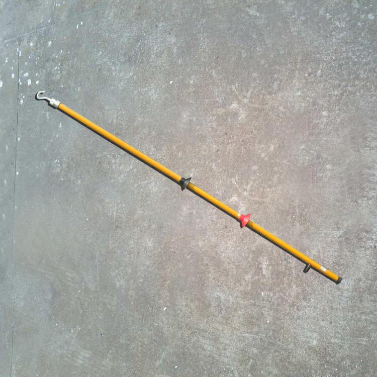 1.5米勾头绝缘杆勾头绝缘杆10KV高压线路勾头杆环氧树脂勾头杆操作杆
