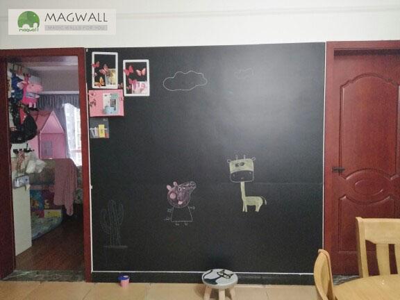 磁善家居家美化免钉免胶无痕擦写磁性黑板贴