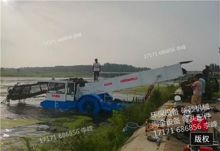全自动浅滩水草收割船优点