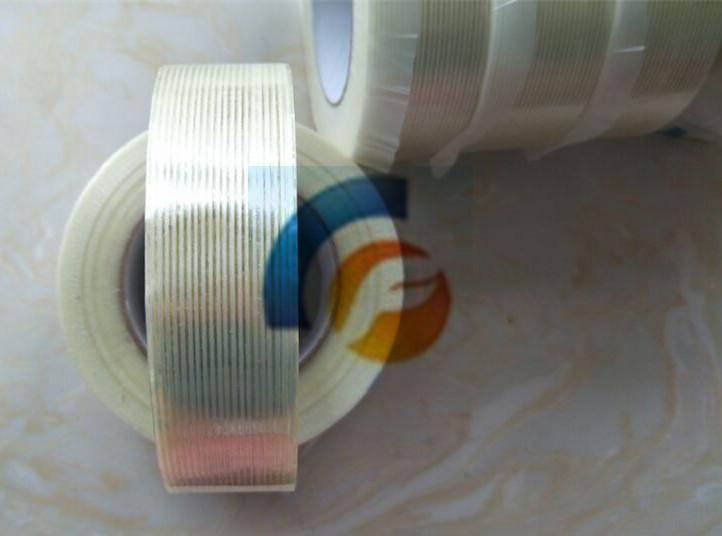 纤维胶带网格封箱胶带/电器/金属固定玻璃纤维胶带不残