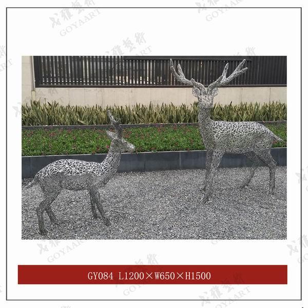 重庆不锈钢雕塑鹿