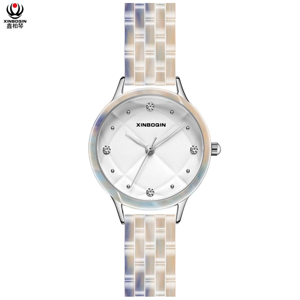 鑫柏琴經銷商來圖來樣定做眼鏡膠暢銷鑲鉆女防水手表便宜禮物