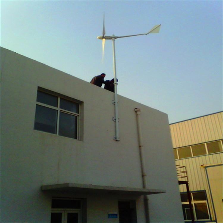 晟成家用风光互补1千瓦小型风力发电机屋顶安装