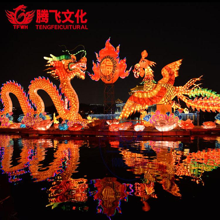 自贡春节彩灯制作   中秋国庆彩灯免费设计