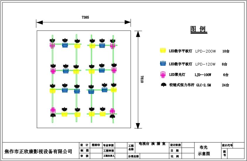 演播室燈光布置,電視臺演播室燈光布置圖,演播室燈光設計圖