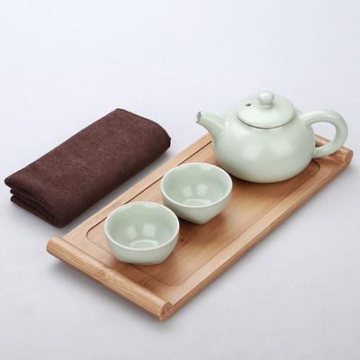 定制禮品送領導 長輩陶瓷茶具 批發快客杯一壺二杯功夫茶具禮品