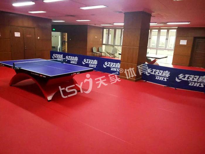 室内乒乓球运动地胶 乒乓球场馆地面施工