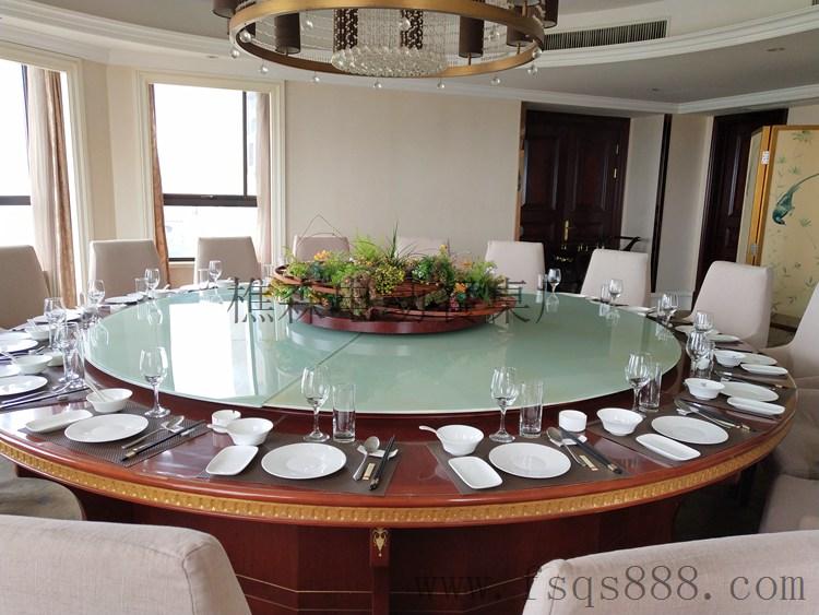 广东电动餐桌厂家 新中式电动餐桌 ?#39057;?#30005;动圆桌 电动大理石餐桌