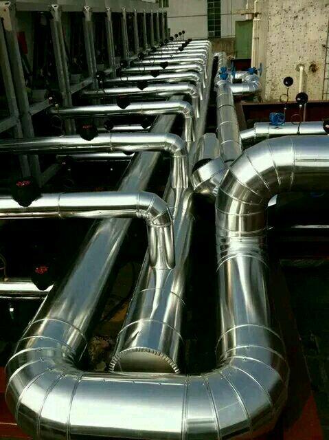 管道不锈钢保温工程蒸压釜白铁皮防腐保温施工