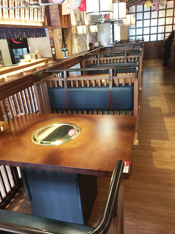 料理餐厅火锅桌 料理桌椅图片 深圳餐厅家具定制厂家