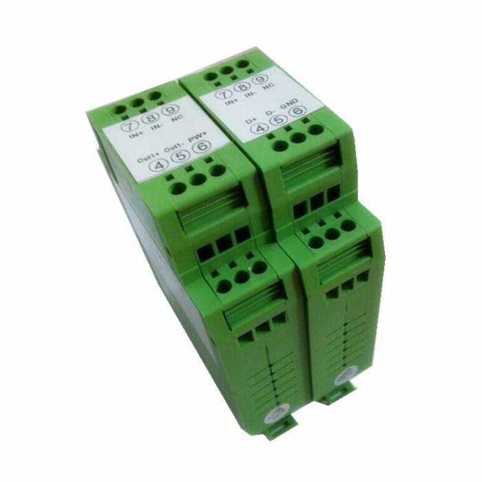 pt100转4-20ma、0-5v、cu50转0-10v电阻温度传感器