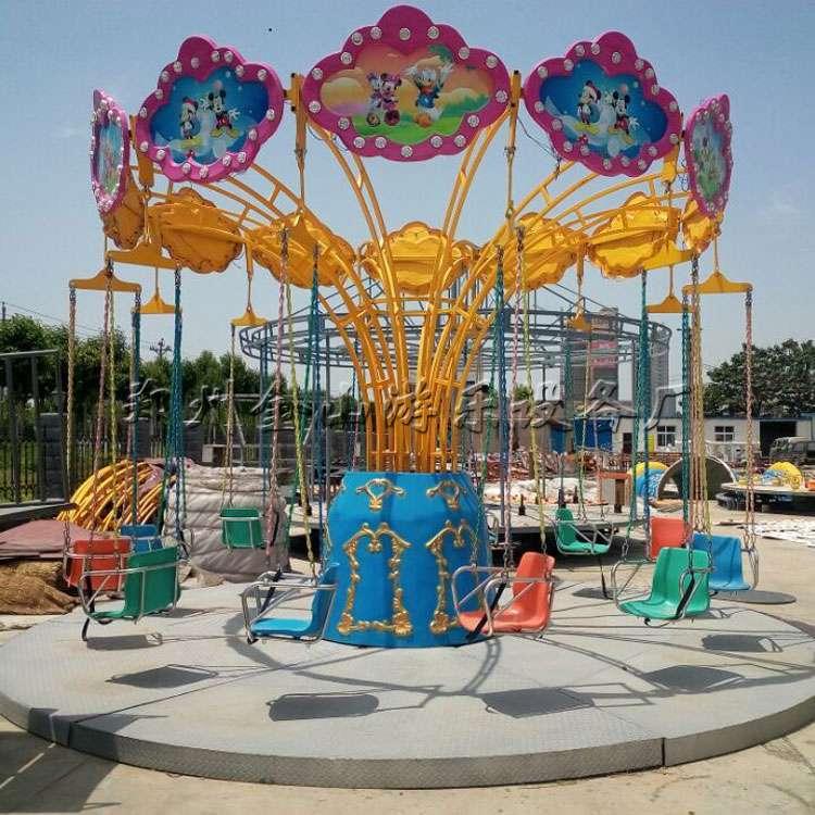 简易莲花飞椅设备报价 好玩的儿童游乐设备到金山厂购买