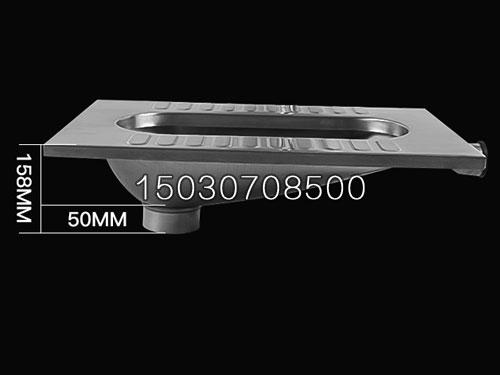 新凯直排不锈钢蹲便器 蹲坑图片大全 标准尺寸