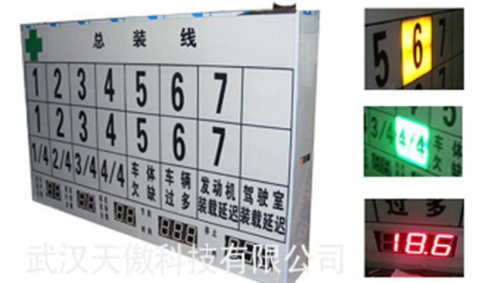 车间流水线看板进度生产线电子看板ta743精益管理-书生商务网