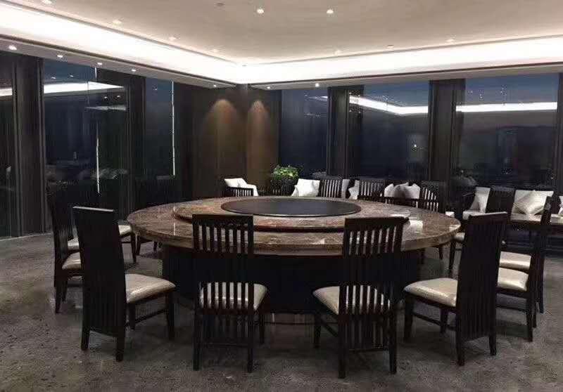 酒店餐桌椅 宴會橢圓電動餐桌 電動轉盤餐桌