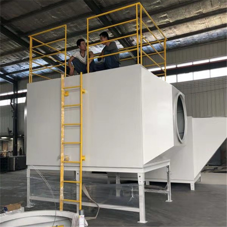 邯郸vocs废气过滤装置碳钢3个厚活性炭吸附塔设备
