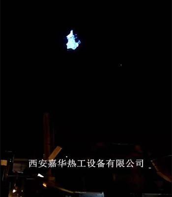 山東日照鋼鐵集團第二套高爐煤氣放散點火成功