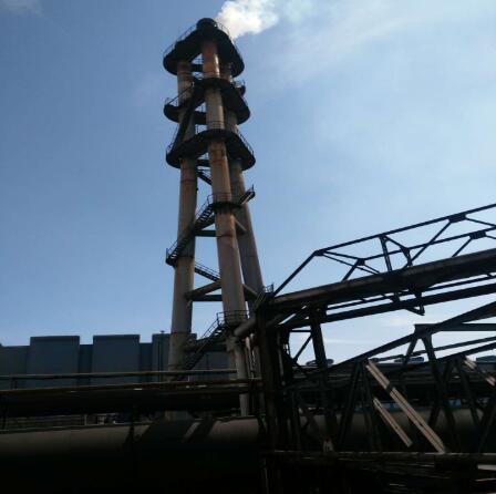 山東鋼廠5套高爐煤氣放散點火一次驗收成功