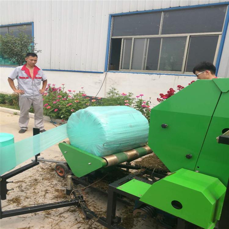養殖場專用青貯打捆薄膜機  吉林供應秸稈打捆包膜機