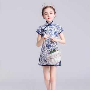 厦门童装,青花瓷童装,中国风童装,童装演出服