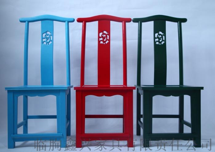 酒店专用新中式实木餐椅原木靠背椅