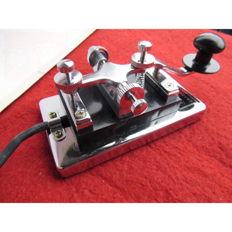 不銹鋼電鍍制作電鍵 電臺用電鍵重型電鍵 7芯插頭短波