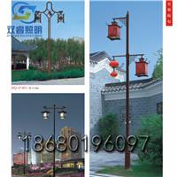 雙頭燈籠燈箱庭院吊燈鍍鋅鋼立柱庭院吊燈戶外防水步道兩側庭院燈