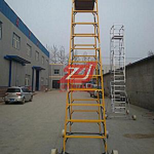 厂家直销 接触网检修半绝缘梯车 圆管轻型防滑绝缘梯车