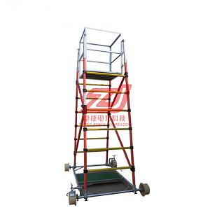 折叠绝缘梯车高度6.2米 折叠式铝合金梯车5.3米厂家出售