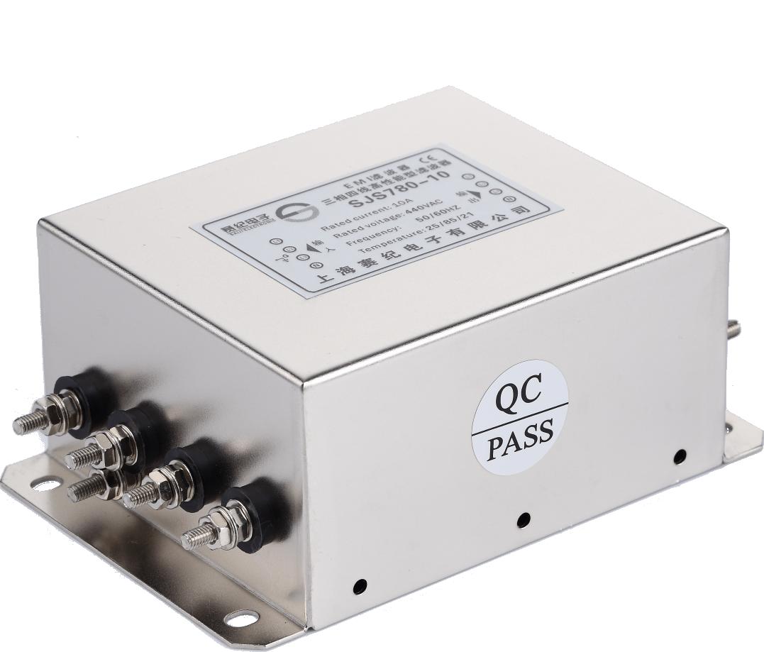 赛纪电源滤波器380220V三相四线交流低通变频伺服抗干扰EMC净化器