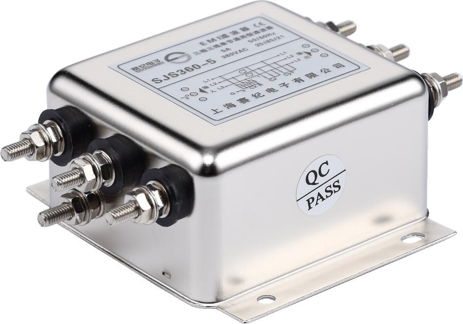 赛纪电源滤波器EMI/EMC三相三线单级380v低通交流抗干扰净化器