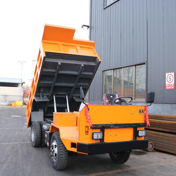 JT-08礦山運輸翻斗車 8噸帶礦安證礦洞運輸井下自卸車