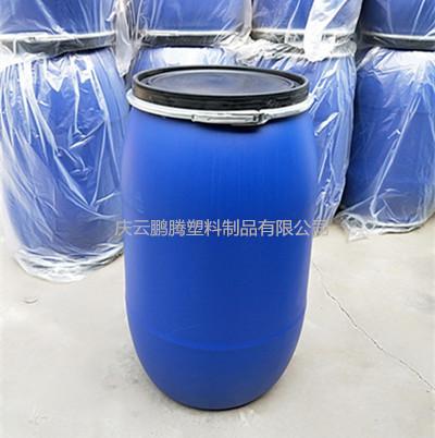 200L塑料桶開口200L抱箍法蘭塑料桶